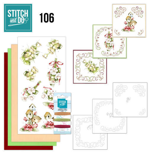 Stitch and Do 106 Pink Spring Flowers
