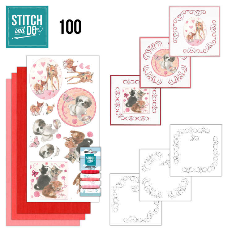 Stitch and Do 100 Playful Pets