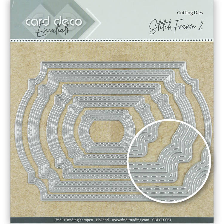 Card Deco Essentials Cutting Dies Stitch Frame 2
