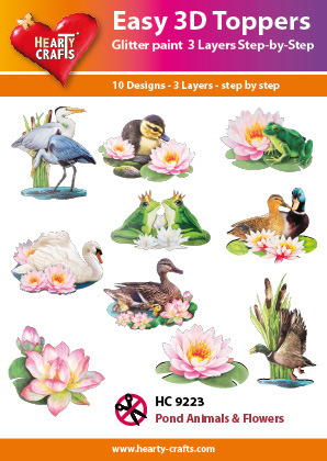 Easy 3D-Toppers - Pond Animals & Flowers