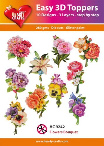 Easy 3D-Toppers - Flower Bouquet.