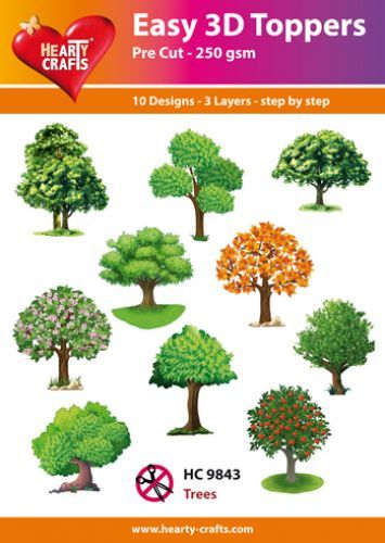 Easy 3D-Toppers - Trees