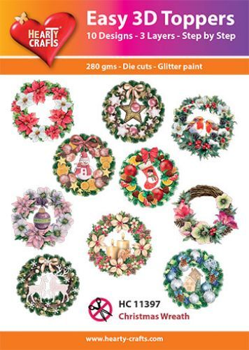 Easy 3D-Toppers - Christmas Wreath
