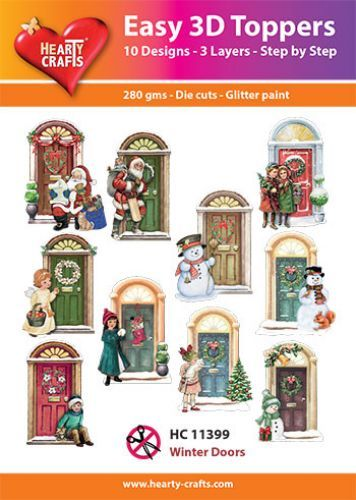Easy 3D-Toppers - Winter Doors.