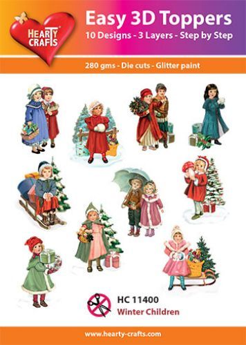 Easy 3D-Toppers - Winter Children