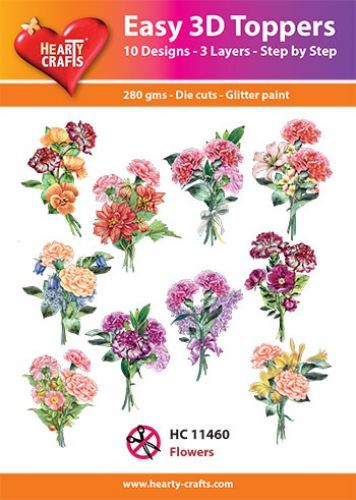 Easy 3D-Toppers - Flowers.