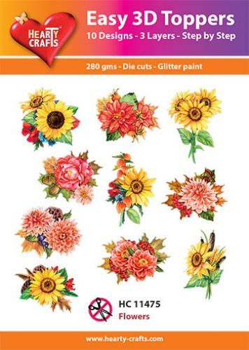 Easy 3D-Toppers - Flowers