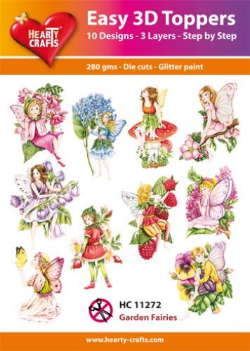 Easy 3D-Toppers - Garden Fairies