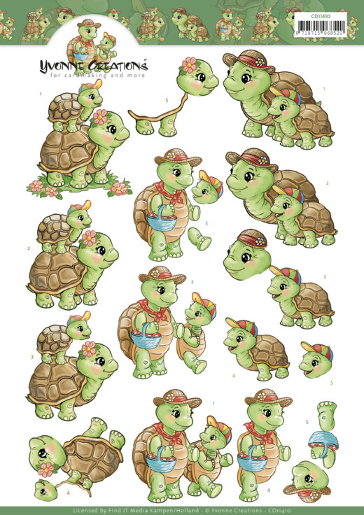 CD11410 Yvonne Creations - Turtle Mommy