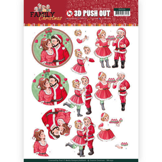 3D Pushout - Yvonne Creations - Family Christmas - Loving Christmas