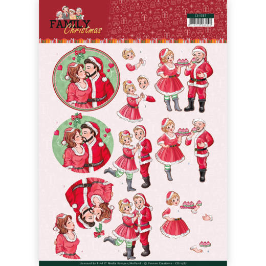 CD11387 3D Knipvel - Yvonne Creations- Loving Christmas