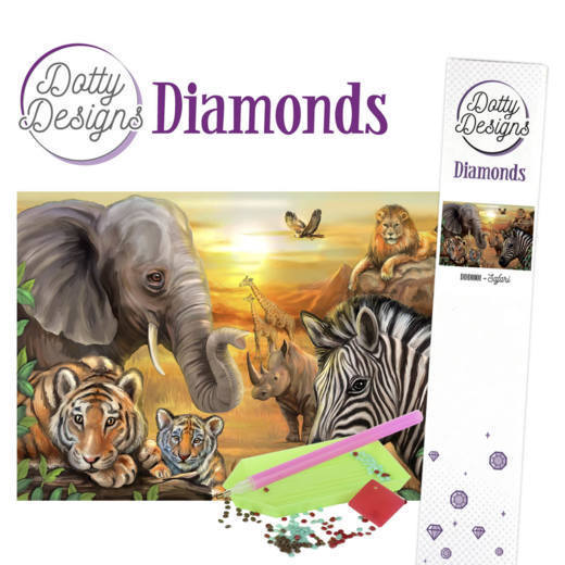 DDD10001 Dotty Designs Diamonds - Safari