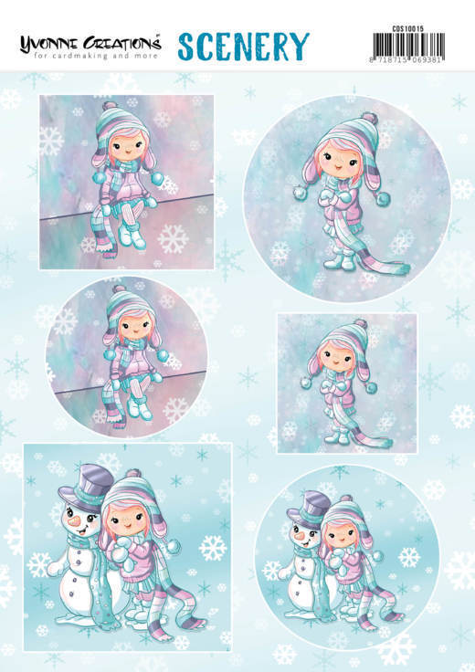 3D Pushout - Scenery - Yvonne Creations Lola Winterfun