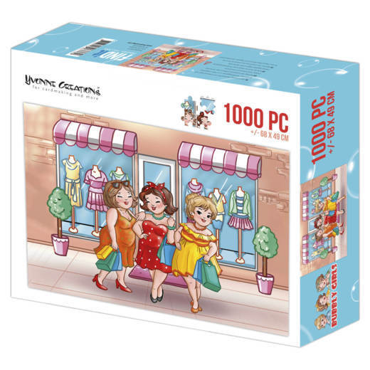 Puzzle 1000 pc - Yvonne Creations - Bubbly Girls Shopping  001