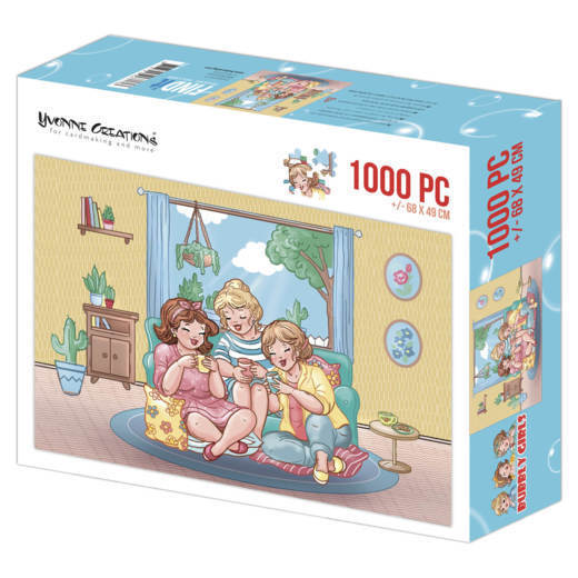 YCPZ1002 Puzzle 1000 pc - Yvonne Creations - Bubbly Girls Tea Time  002