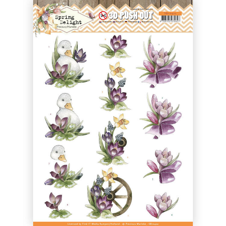3D Pushout - Precious Marieke - Spring Delight - Purple Crocus