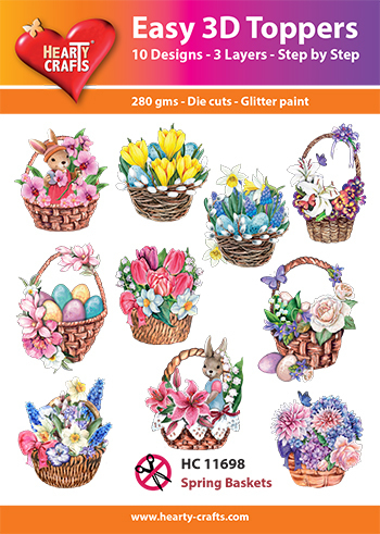 Easy 3D-Toppers - Spring Baskets
