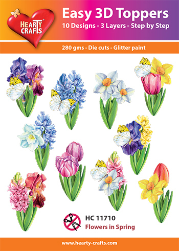 Easy 3D-Toppers - Flowers in Spring