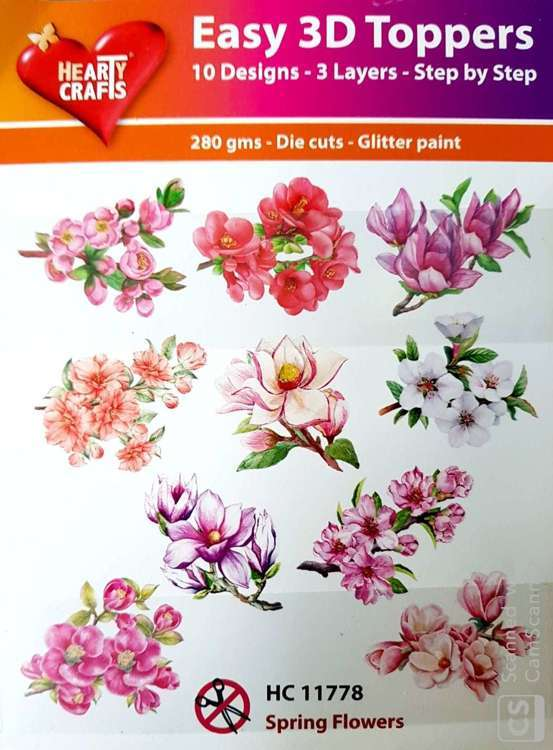 Easy 3D-Toppers - Spring flowers