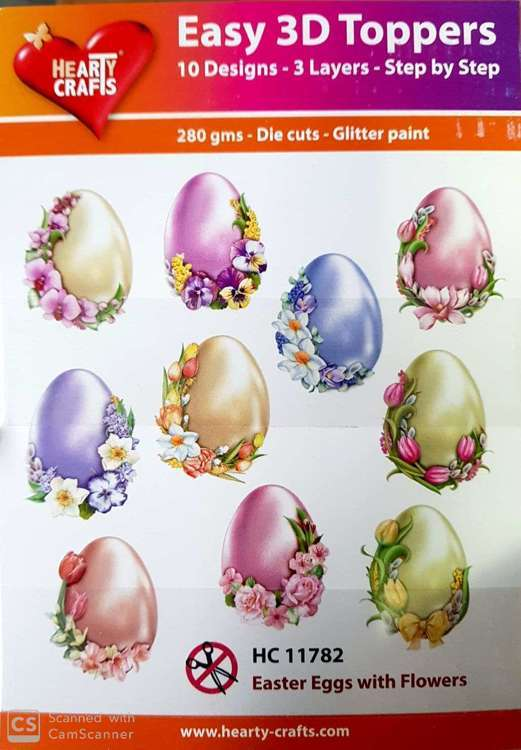 Easy 3D-Toppers - Easter eggs with flower