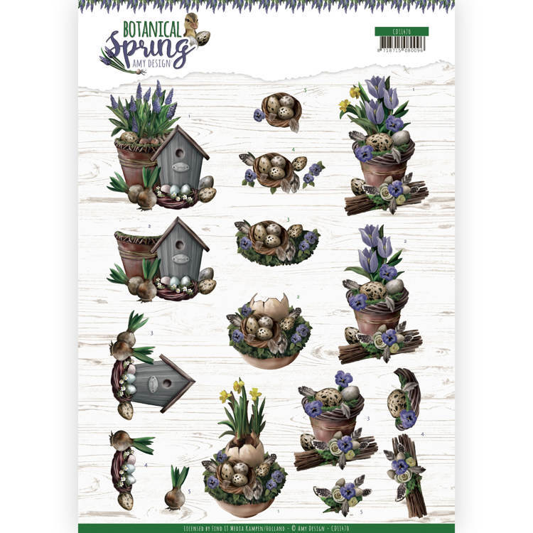 CD11470 3D Knipvel - Amy Design - Botanical Spring - Spring Arrangement