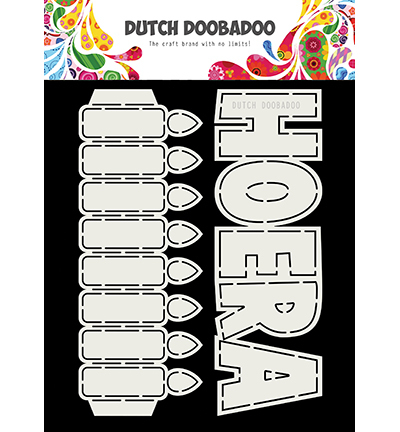 Card Art - Dutch DooBaDoo - Hoera, Kaarsen