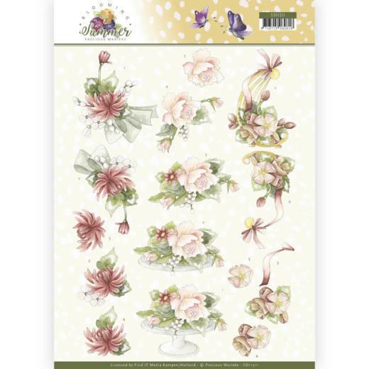 CD11311 3D Knipvel - Precious Marieke - Blooming Summer - Sweet Summer Flowers