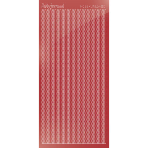 Hobbylines sticker - Mirror Christmas Red