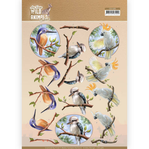 CD11486 3D Knipvel - Amy Design - Wild Animals Outback - Parrot