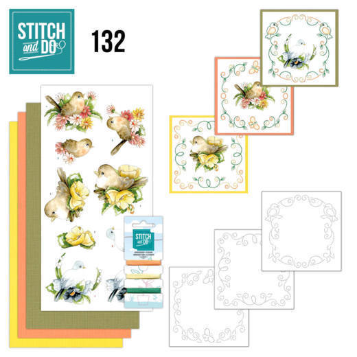 Stitch and Do 132 - Precious Marieke - Delicate Flowers - Birds - STDO132