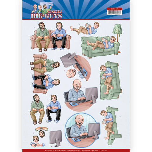 CD11480 3D Knipvel - Yvonne Creations - Big Guys - Workers - Gaming