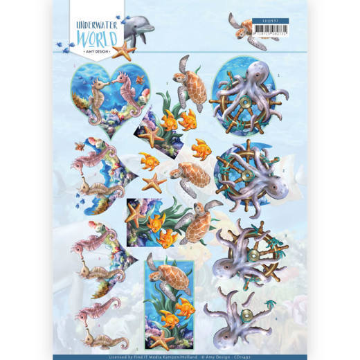 CD11497 3D Knipvel - Amy Design - Underwater World - Sea Animals