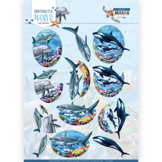 CD11499 3D Knipvel - Amy Design - Underwater World - Big Ocean Animals
