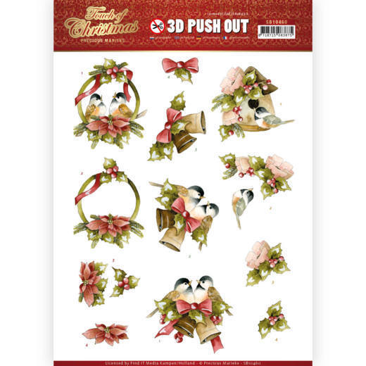 3D Pushout - Precious Marieke - Touch of Christmas - Birds