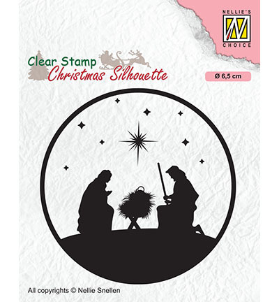 Clear stamp Nellie`s Choice - Nativity-3