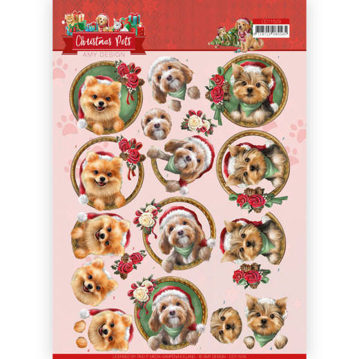CD11529 3D Cutting Sheet - Amy Design - Christmas Pets - Christmas dogs