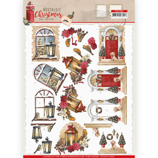 CD11561 3D cutting sheet - Amy Design - Nostalgic Christmas - Warm Christmas