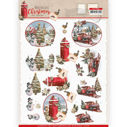 CD11562 3D cutting sheet - Amy Design - Nostalgic Christmas - Christmas Train
