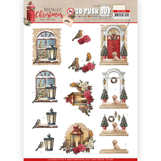 SB10484 3D Push Out - Amy Design - Nostalgic Christmas - Warm Christmas