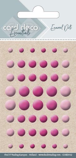 Card Deco Essentials - Enamel Dots Bright Pink