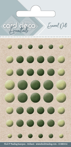Card Deco Essentials - Enamel Dots Pearl Yellow Green