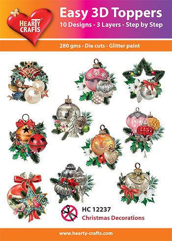 Easy 3D-Toppers - Christmas Decorations