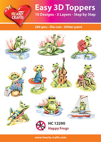 Easy 3D-Toppers - Happy Frogs