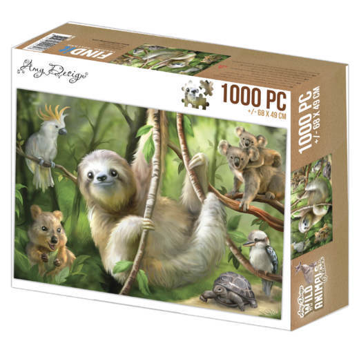 Jigsaw puzzel 1000 pc - Amy Design - Sloth