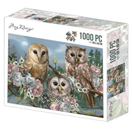 ADZP1010 Jigsaw puzzel 1000 pc - Amy Design - Romantic Owls