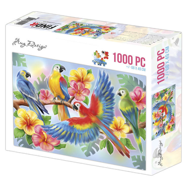 ADPZ1005 Jigsaw puzzel 1000 pc - Amy Design - Parrots