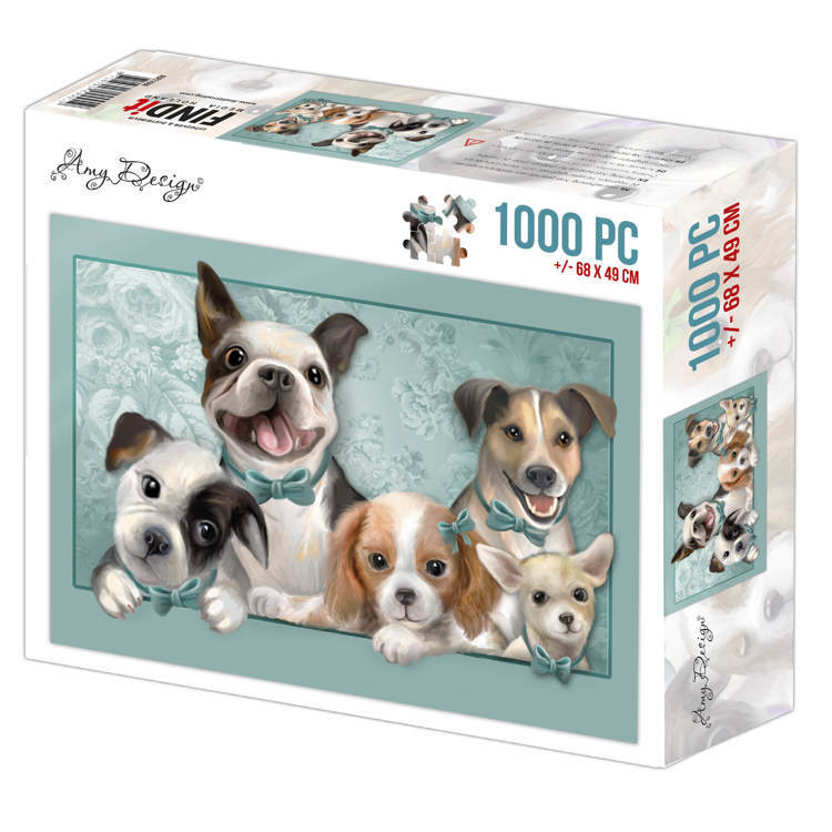 ADPZ1006 Jigsaw puzzel 1000 pc - Amy Design - Dogs