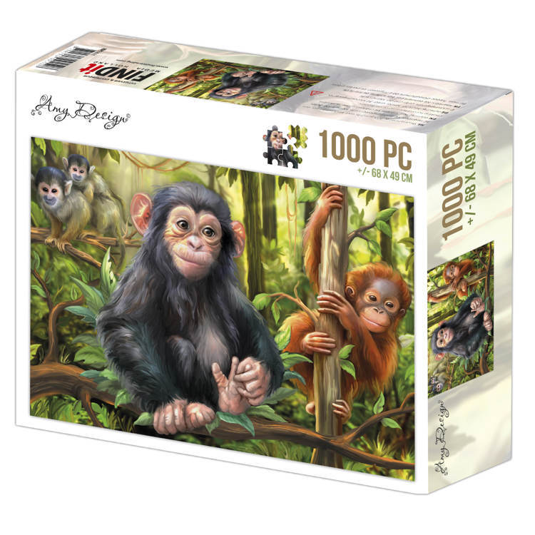 ADPZ1011 Jigsaw puzzel 1000 pc - Amy Design - Monkeys