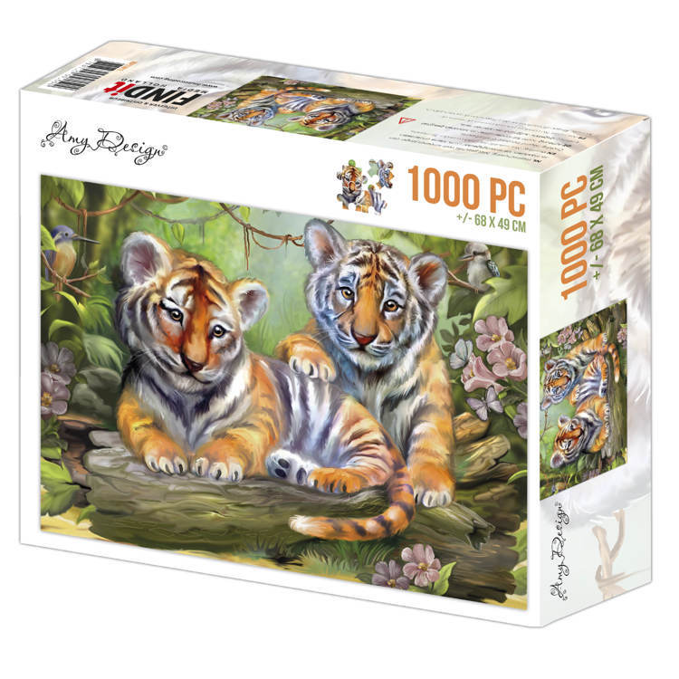 ADPZ1012 puzzel 1000 pc - Amy Design - Tigers