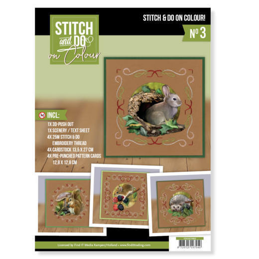 STDOOC10003 Stitch and Do on Colour 003 - Amy Design - Forest Animals